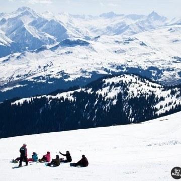 Górski krajobraz zimą