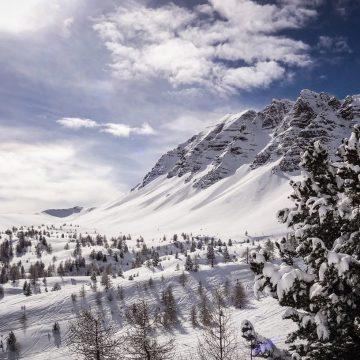 Zimowy pejzaż w górach
