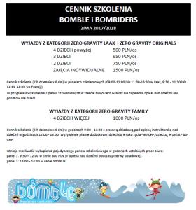 CENNIK SZKOLENIA BOMBLOWEGO I BOMBRIDERS_2017_2018_29.10
